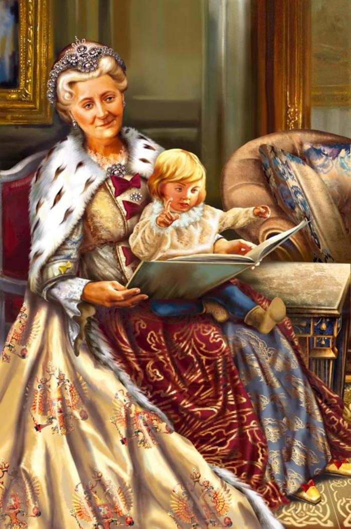 Екатерина II с внуком Александром.jpg