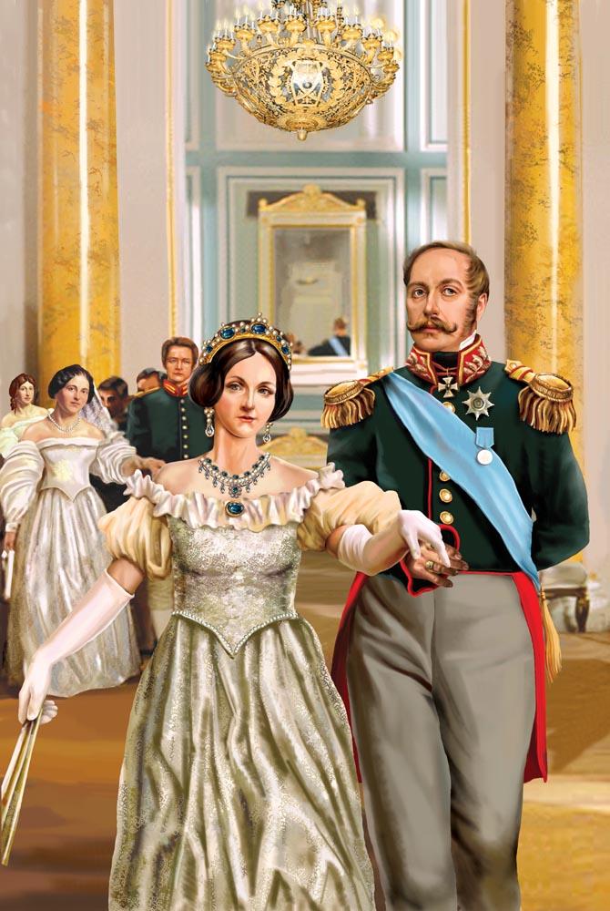 Николай I с женой на балу.jpg