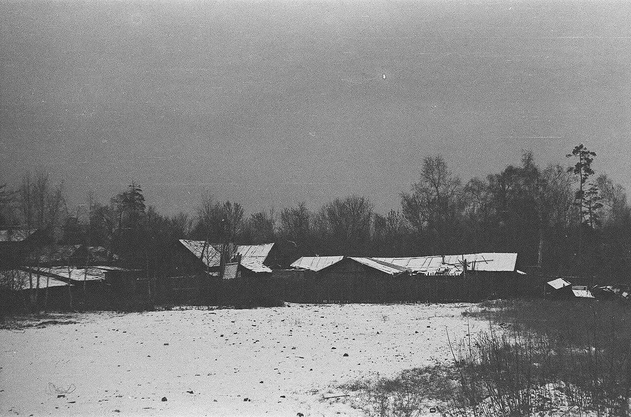1968. Деревянные дома по 6-му Лучевому. Вид со стороны леса