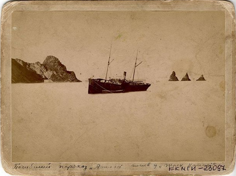Погибший пароход Атлас (погиб у Трёх Братьев)