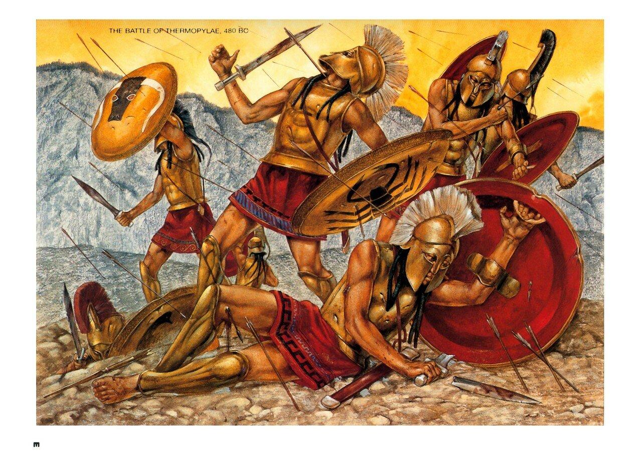 Открытка с солнцем и морем где триста спартанцев совершили подвиг