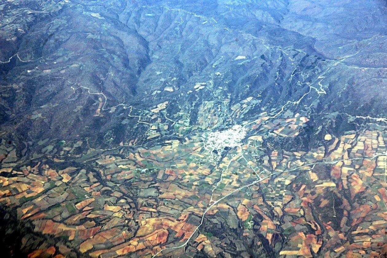 Горы северо-восточной Греции. Вид с самолёта