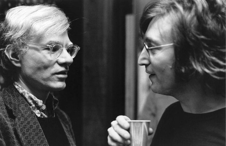 7. Джон Леннон и Энди Уорхол, 1972.