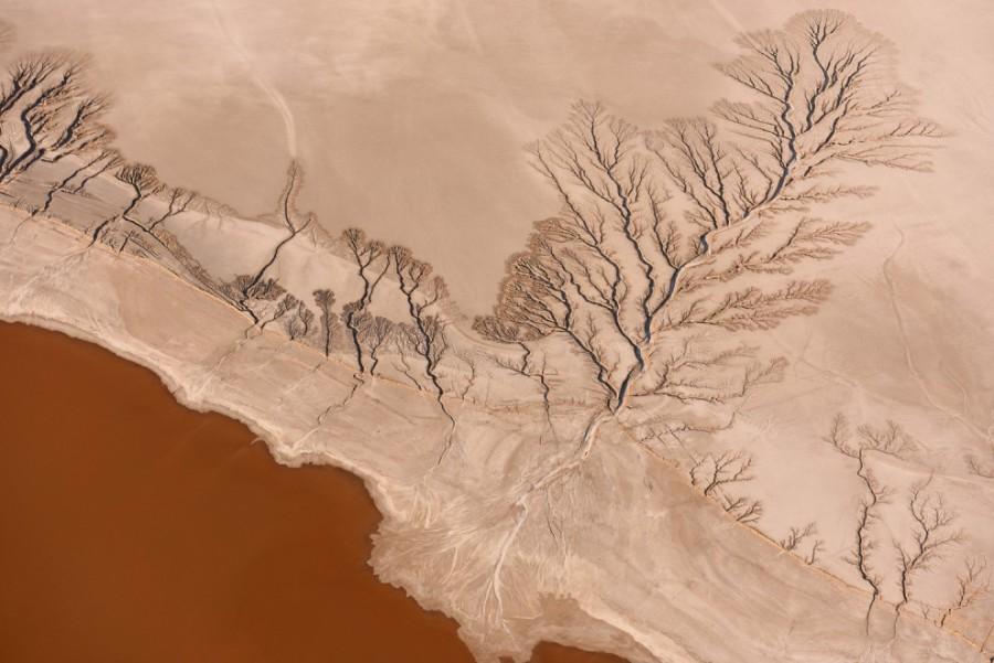 8. Пересохшее озеро Коэн в пустыне Мохаве, штат Калифорния, США.