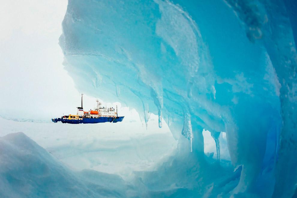 Телескоп на Амундсен-Скотт — действующей с 1956 года постоянно обитаемой антарктической станции