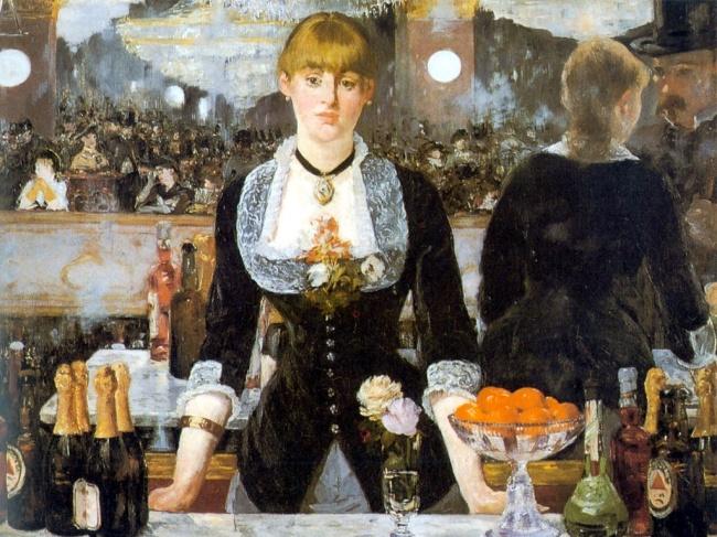 "© wikiart.org  «Бар в""Фоли-Бержер""», 1882 Последняя картина Мане стала одним изсамых известн"