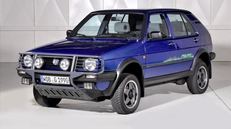 Volkswagen Golf Country '1990–1991 Изначально проекту дали имя Montana, а концепт компак
