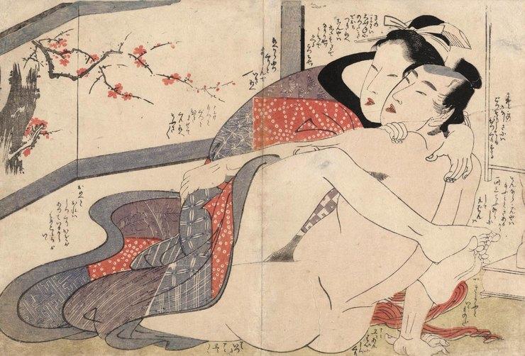 Японская религиозная система всегда была доброжелательно настроена к сексу как таковому. Запрет на п