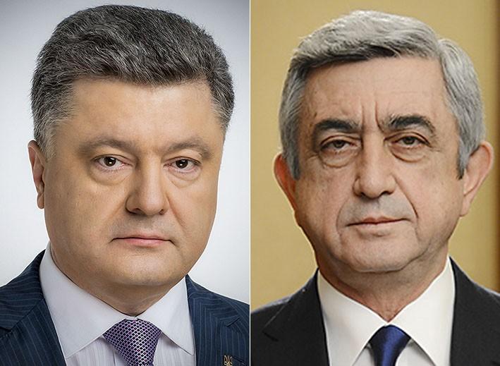 Президенты Армении иУкраины обсудили потелефону вопросы двусторонней повестки