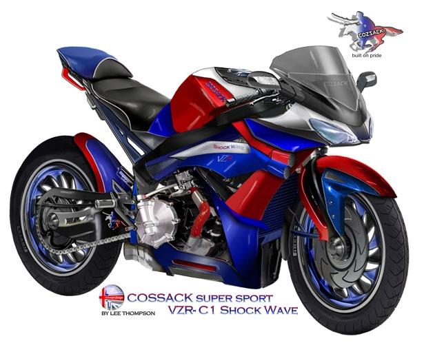 Ли Томпсон: концепт мотоцикла Cossack VZR-C1 ShockWave для России
