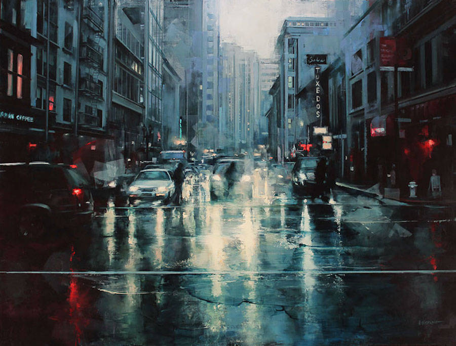 Captivating City Streets Paintings (8 pics)
