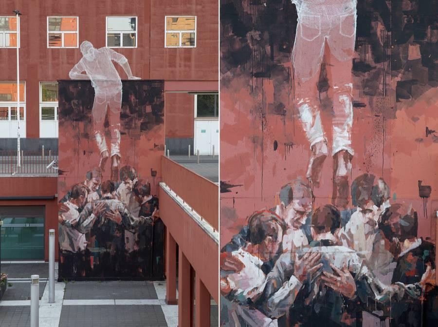 Climbing Man Installation (8 pics)
