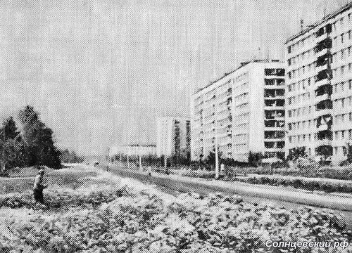 Солнцевский проспект, справа дома 32 и 34, слева место где теперь стоит магазин