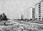 """Солнцевский проспект, справа дома 32 и 34, слева место где теперь стоит магазин """"Столица"""" 1979г."""