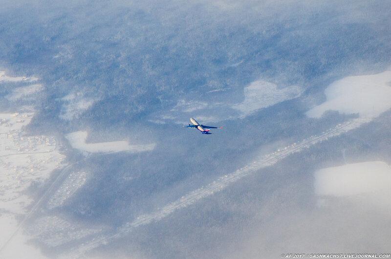 Полёт и посадка. Интересные фотокадры!