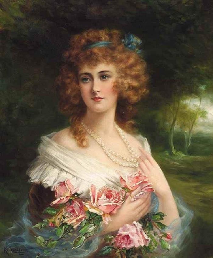 Реймонд Линд Портрет дамы с розами