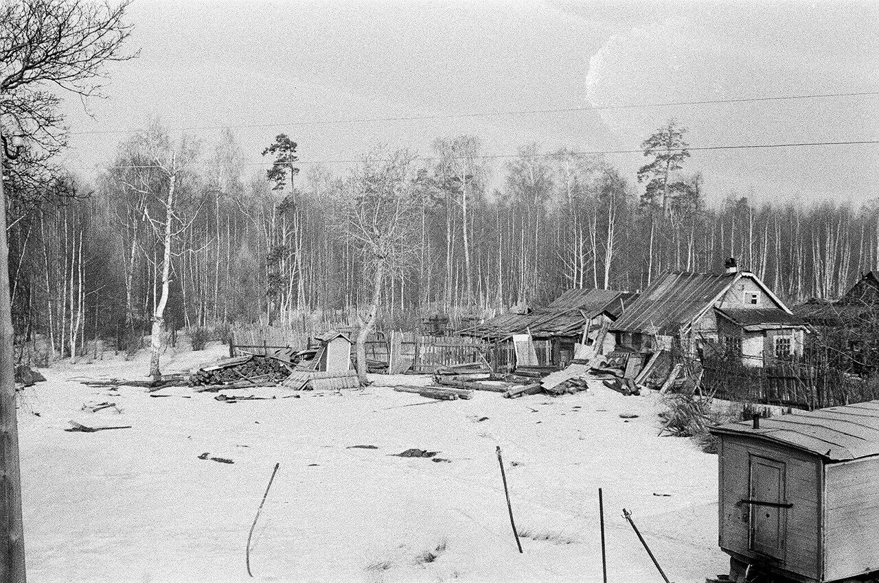 1973. Жилой квартал на 6-м Лучевом просеке. Вид с крыши дома №1 в сторону 5-го Лучевого