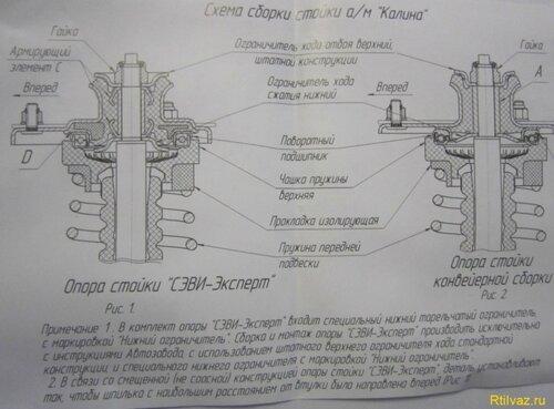 Lada Kalina схема сборки стойки