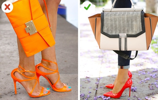 © befrassy  © chicforstyle.blogspot  Необязательно подбирать обувь исумку водной цвет