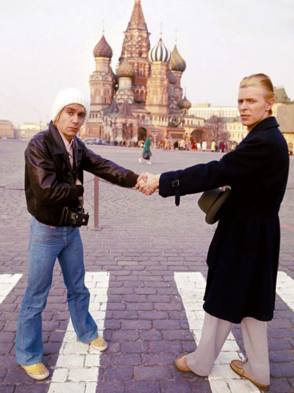 Дэвид Боуи и Игги Поп в Москве в 1976 году.