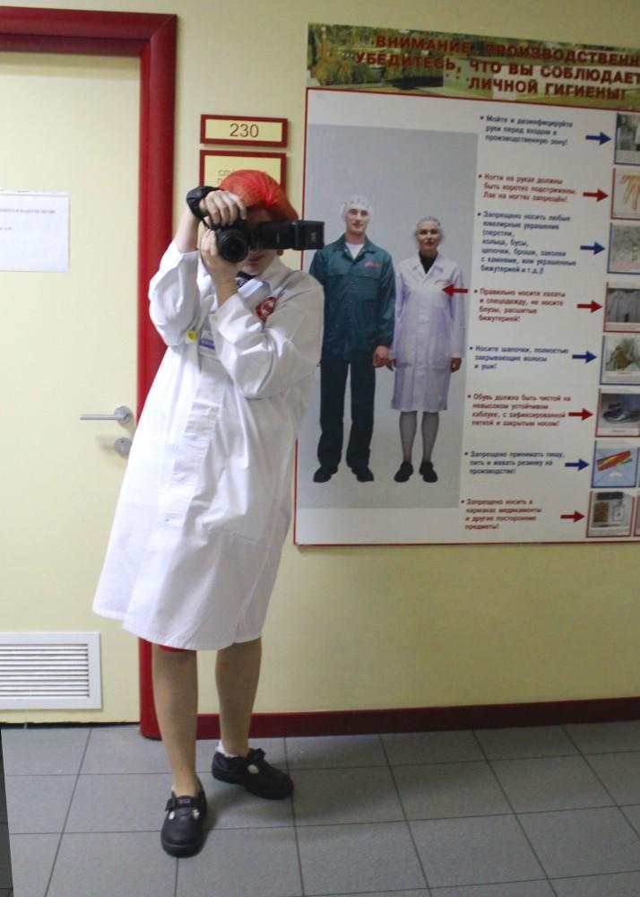 4. Вот так примерно выглядит среднестатистический работник фабрики. На фабрике трудится более тысячи