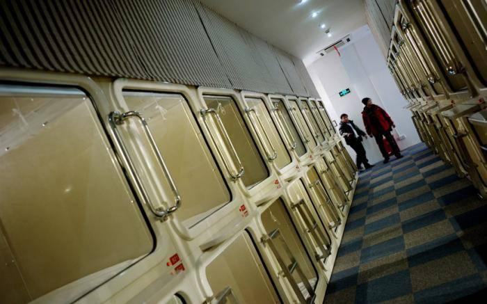 Капсульный отель. Впервые капсульный отель возник в Осаке. Такой отель представляет собой небольшие