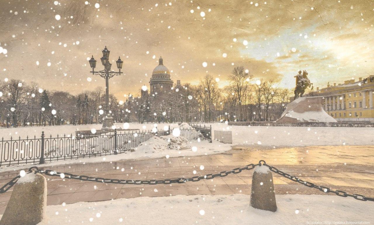 Зима в Санкт-Петербурге. Фотограф Максим Лановой