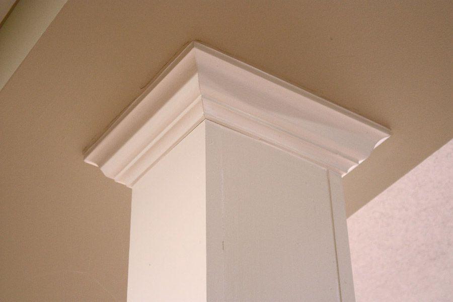 24. Спрячьте раздражающие подвальные балки под колоннами.