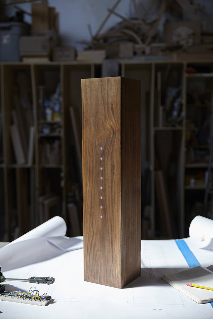 Wooden Umbrella Stand Tells the Weather
