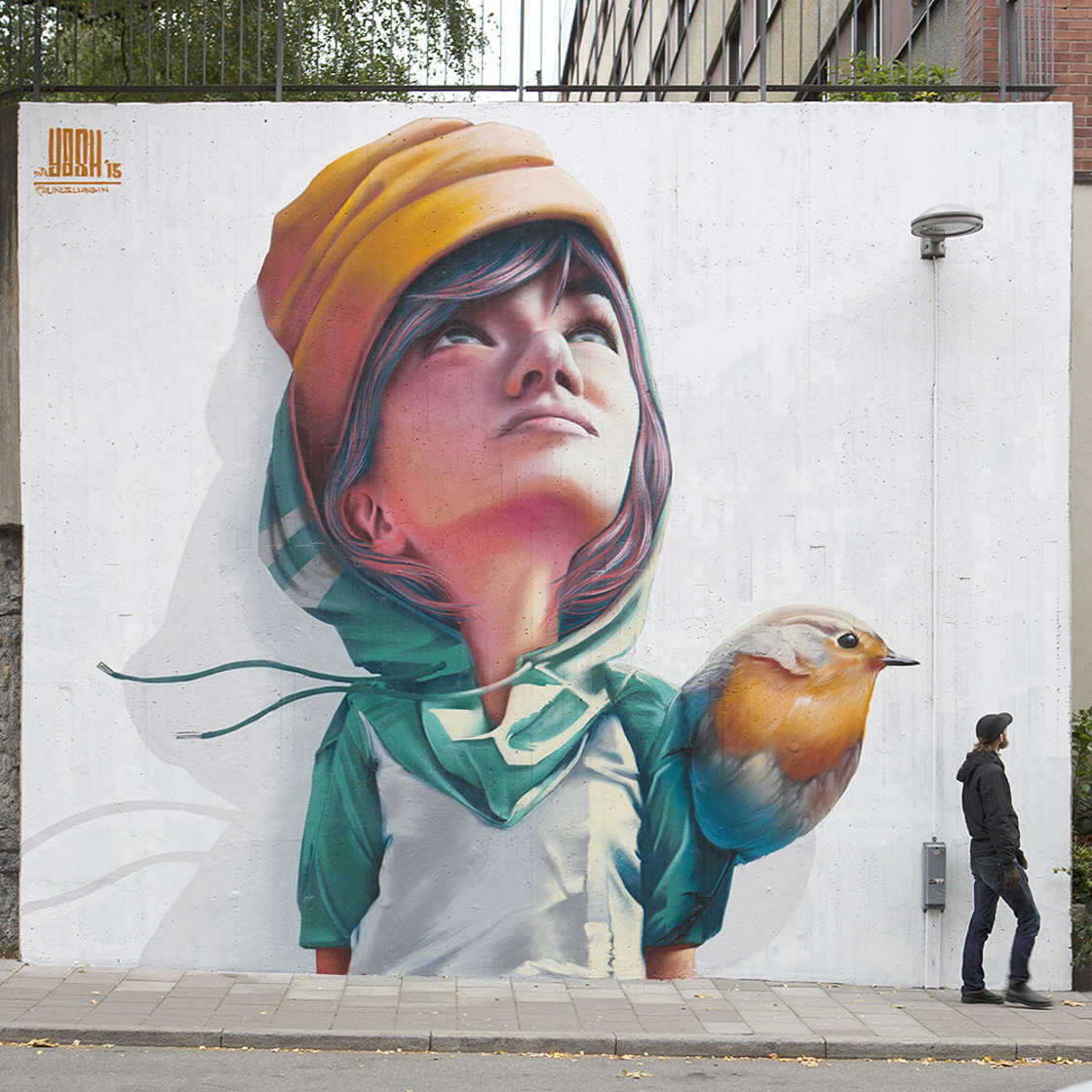 Kids and Colors - The street art by Yash One