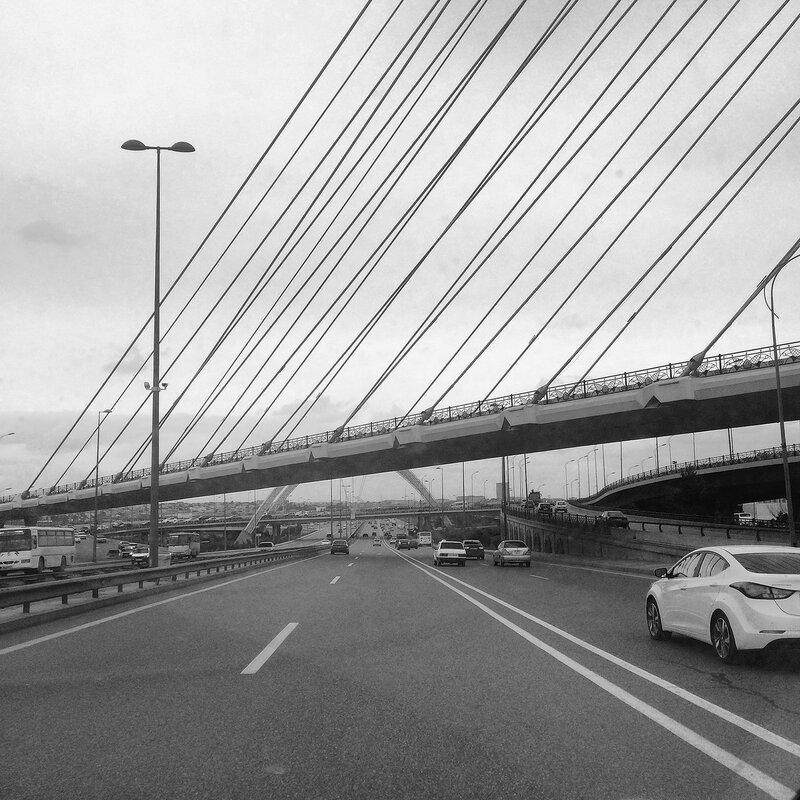 Дорога в город из аэропорта
