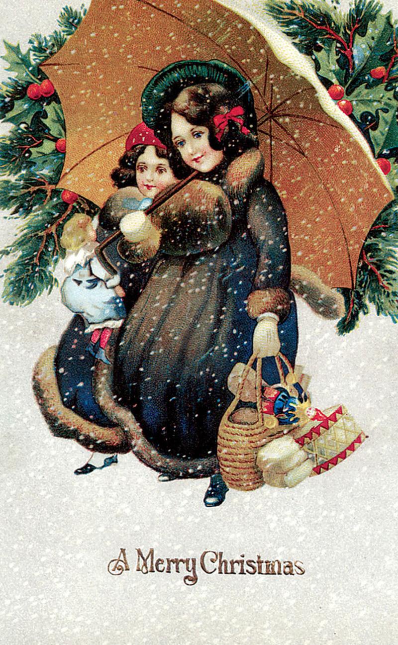Винтажные открытки рождественские 99
