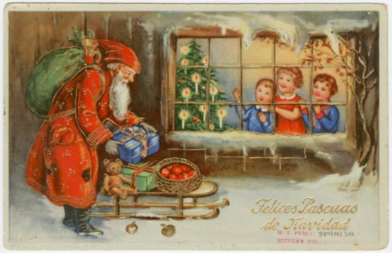 Старые открытки новым годом рождеством