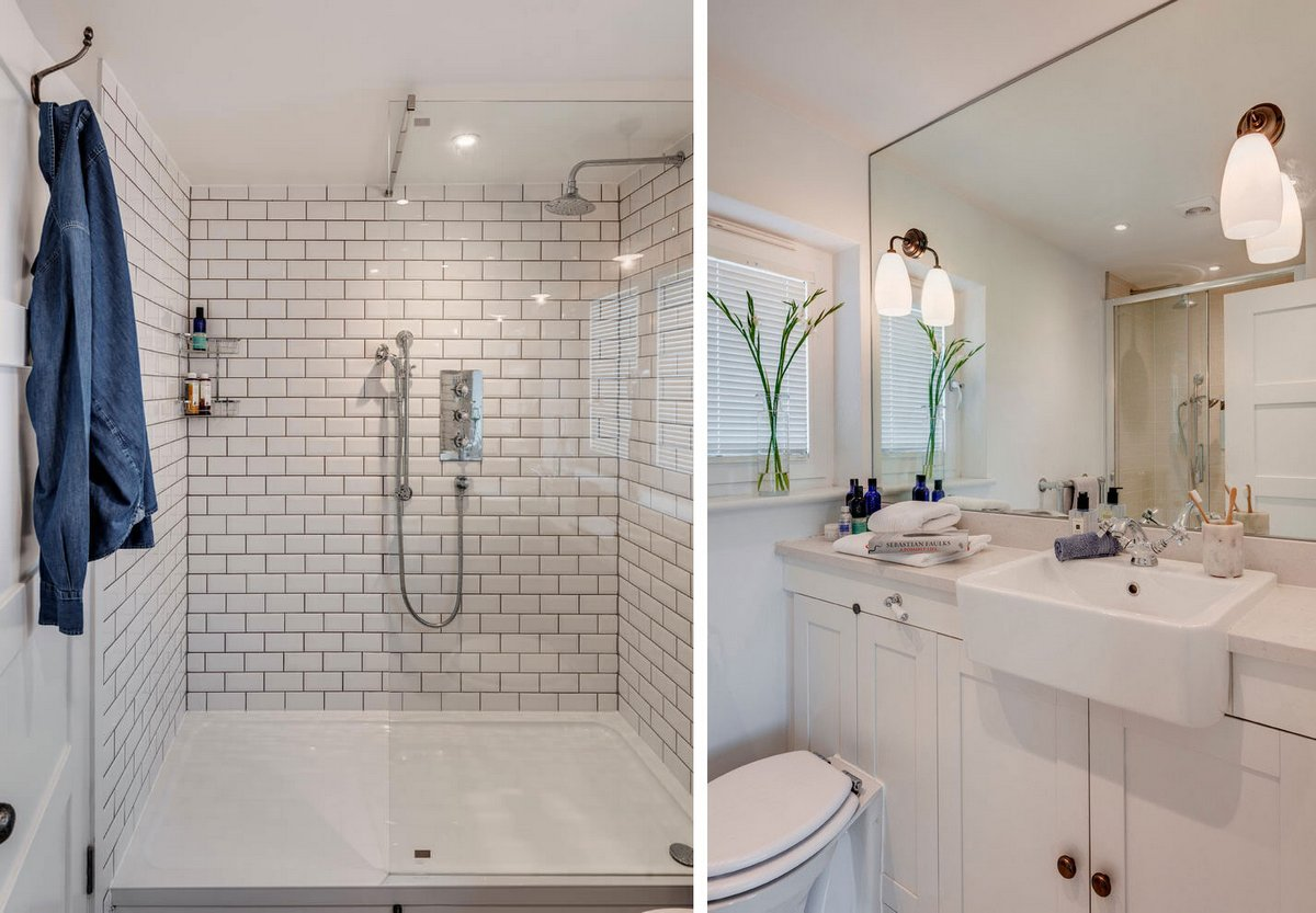 интерьер ванной комнаты частного дома