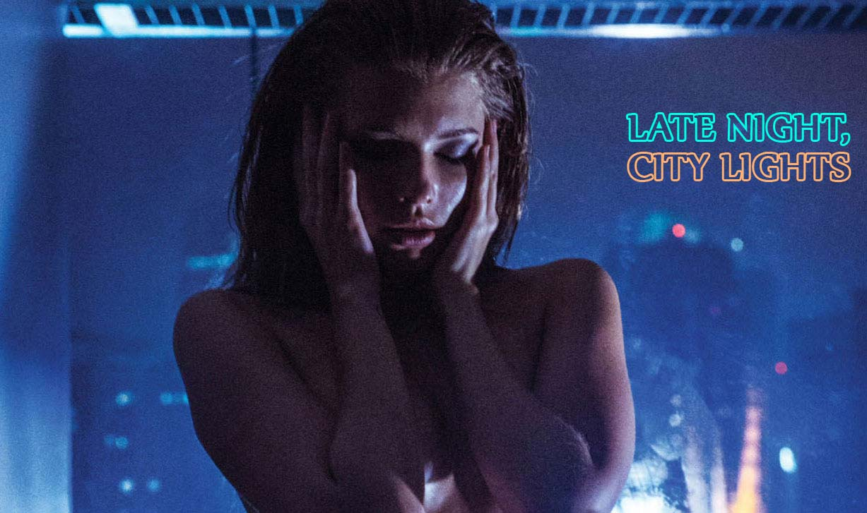 Late Night, City Lights - Liza nude by Tom Fraud