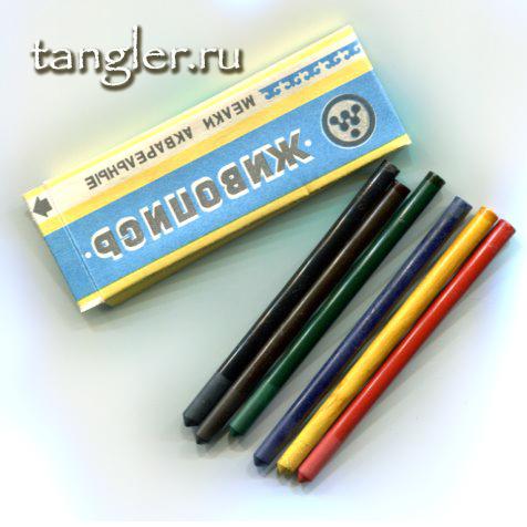 """Акварельные карандаши 1983 года """"Живопись"""""""