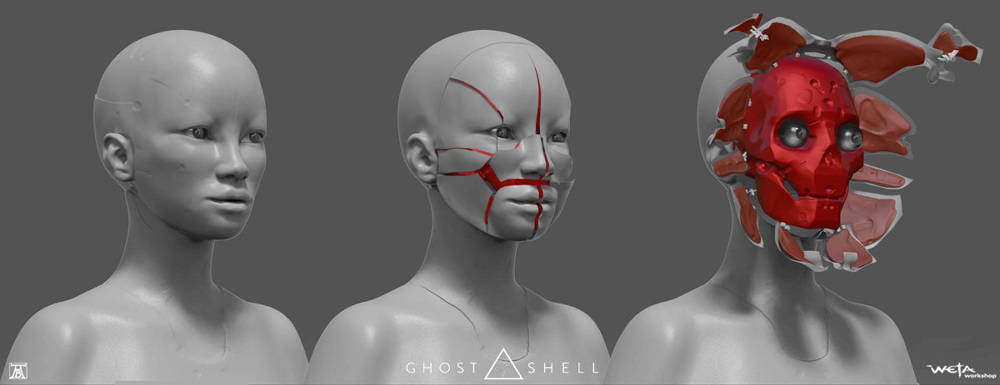 Ghost in the Shell Concept Art by Andrew Baker