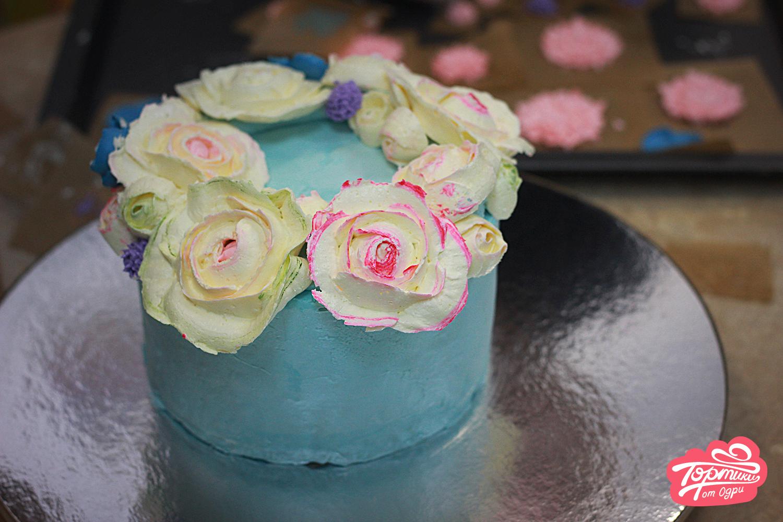 украшение торта кремом