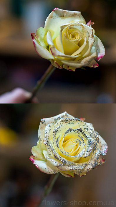 украшение роз