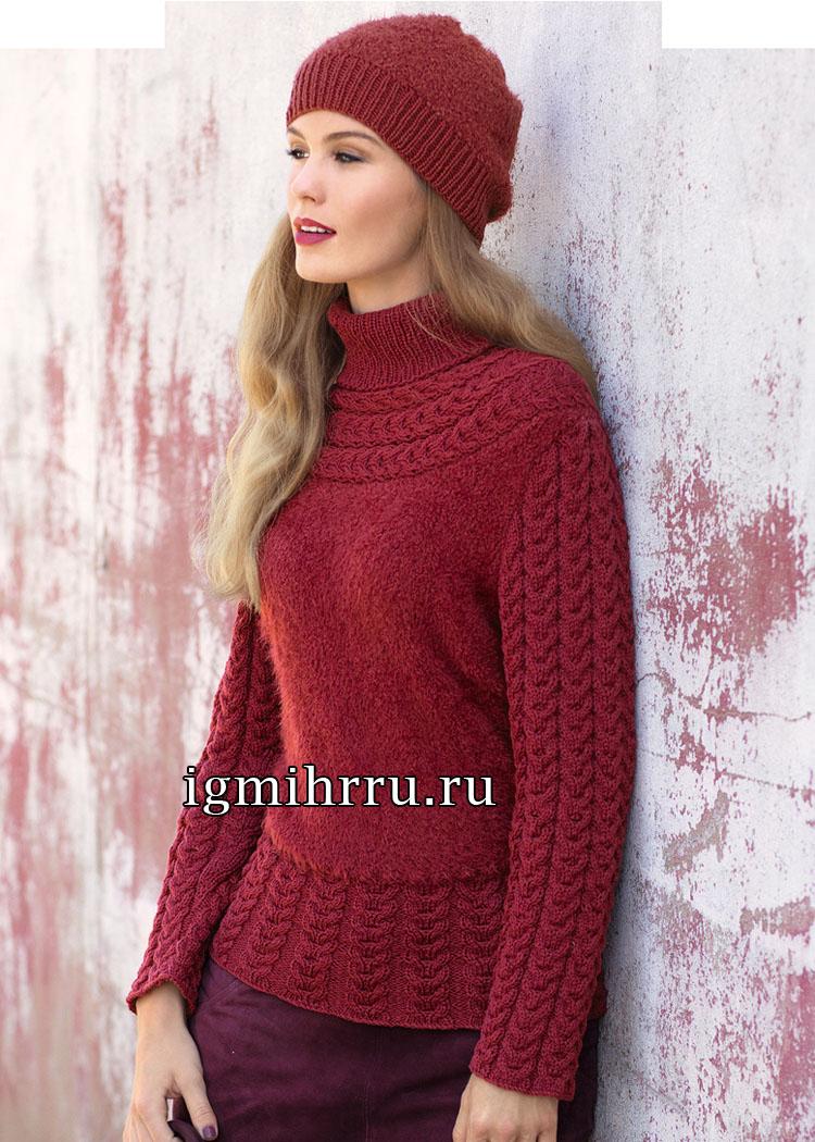 схема вязания простого свитера размер 36 38