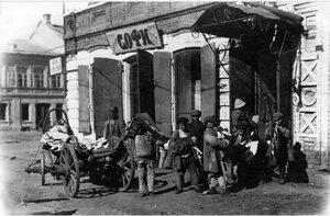 Челябинск. Перевозка архива подростками. 1921