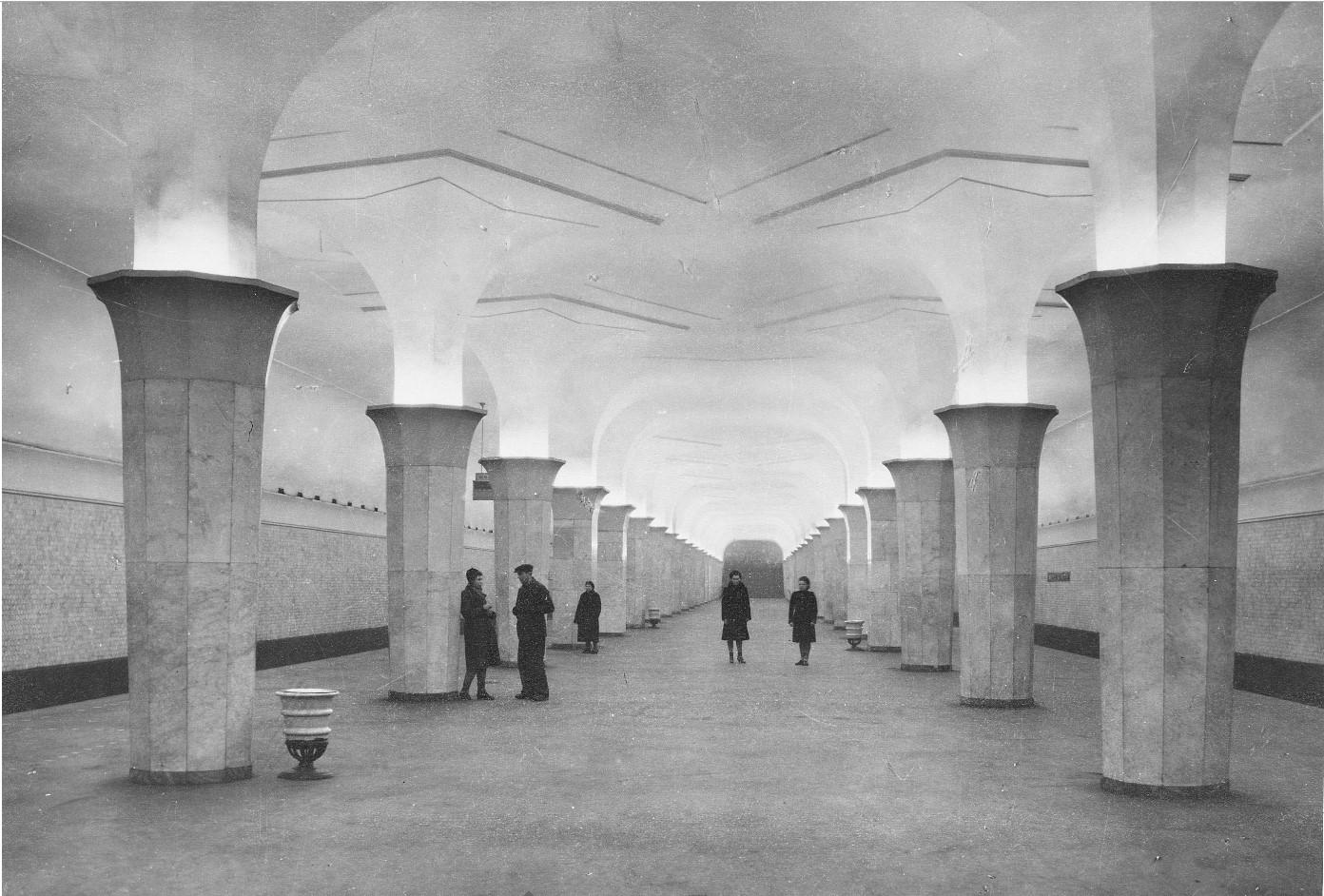Платформа станции метро «Дворец Советов»