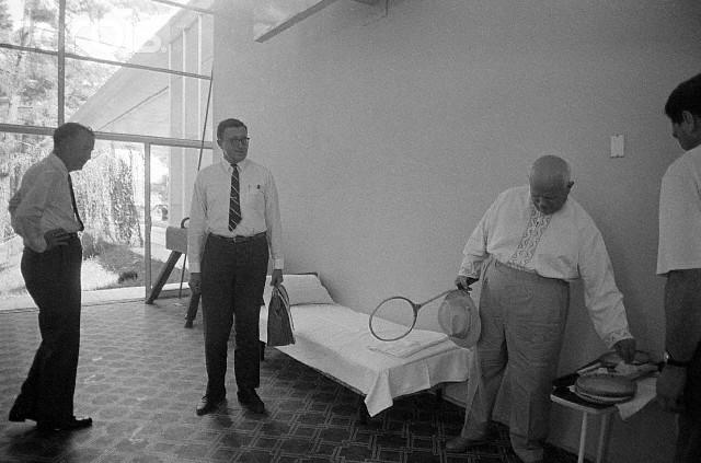 Khrushchev Challenging Rusk to Badminton