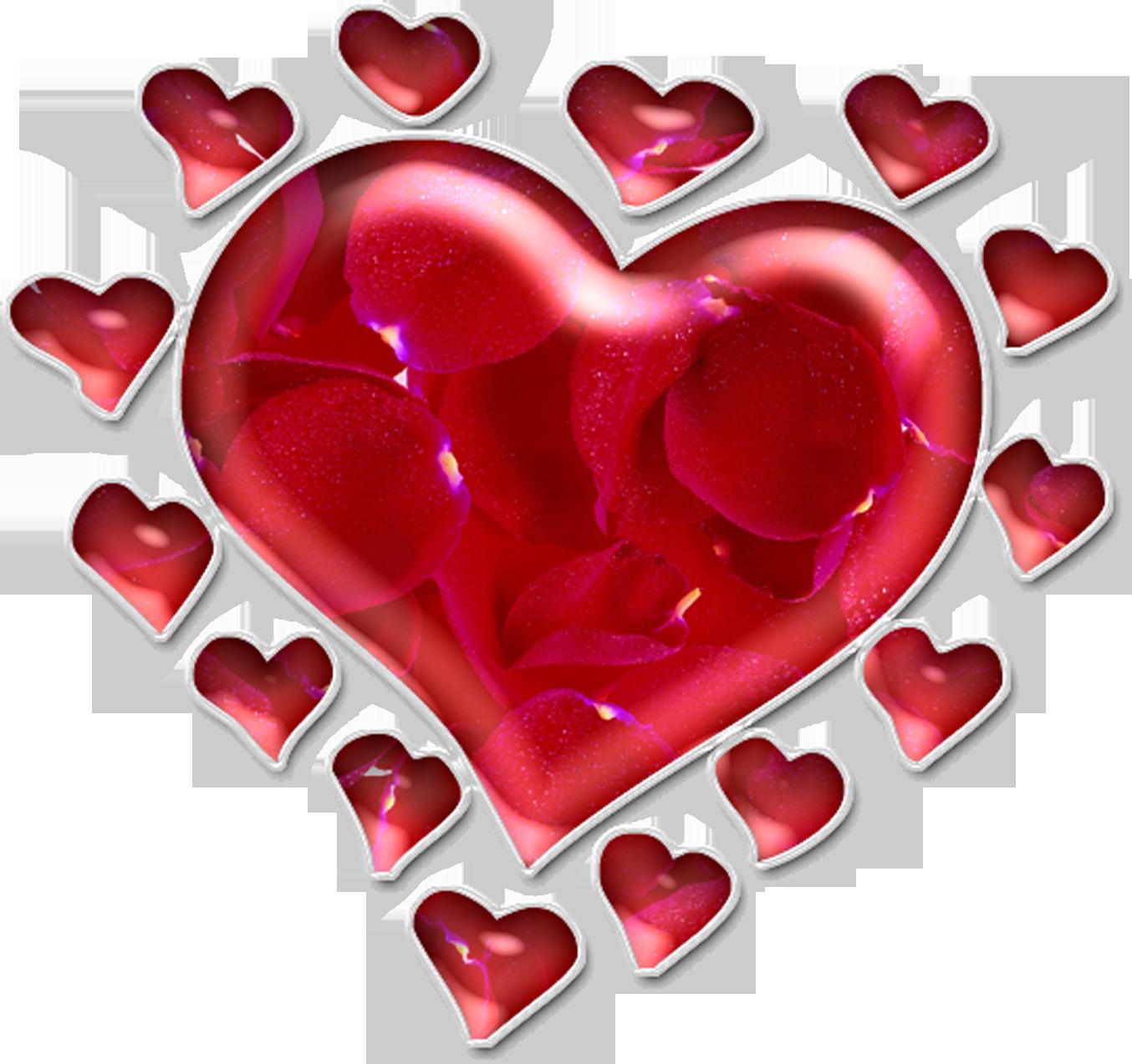 Красивые открытки сердечками