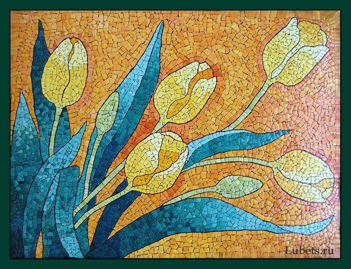 Картины из яичной скорлупы