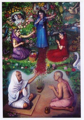Садху молятся Шримати Радхарани