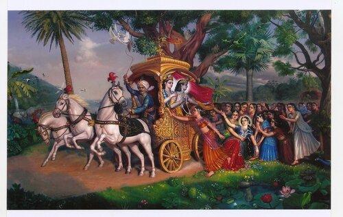 Кришна отправляется в Матхуру