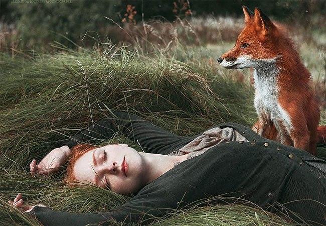 Сказочные портреты рыжеволосых красавиц от Александры Бочкаревой