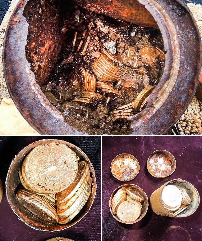© nationalgeographic  В2013 году двое супругов обнаружили клад, выгуливая собаку усебя водв