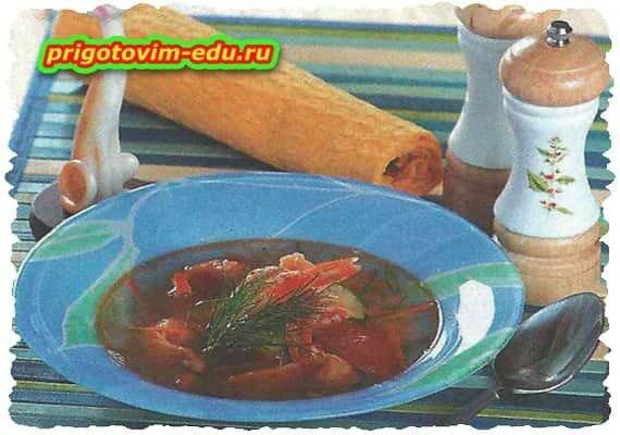 Легкий супчик с креветками